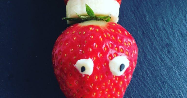 Erdbeer-Bananen-Schlange: Snack nicht nur für Kinder