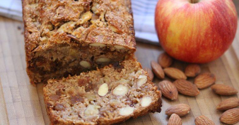 Apfelbrot mit Mandeln – basisch und super lecker