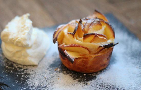 Apfel Blätterteig Rose – super schnell mit nur 3 Zutaten