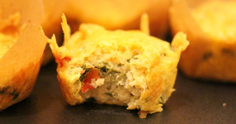 Spinat Feta Muffins – herzhaft mit Quinoa