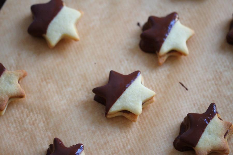 Weihnachtsplätzchen Nougat.Nougat Sterne Im Schokomantel
