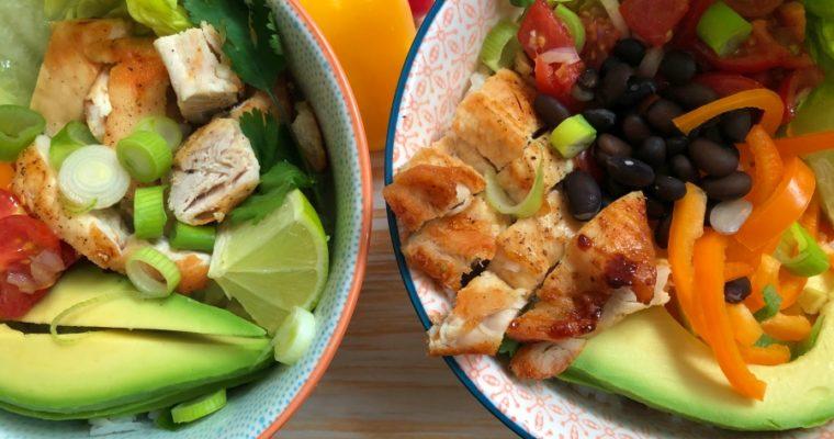 Burrito Bowl – bunte, gesunde Schüssel